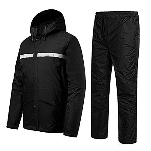 Gjrff Raincoat Männer Golf Regenbekleidung Outfit for die Arbeit im Freien Camping-Ausflug Regenmantel Wanderjacke und Hose Anzug Licht stopfbar (Size : XXXL)