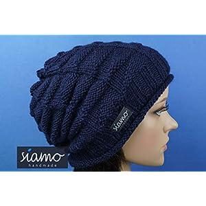 Beanie BARANCA 100% Baby-Alpaka Unisex dunkelblau Luxus-Mütze von siamo-handmade