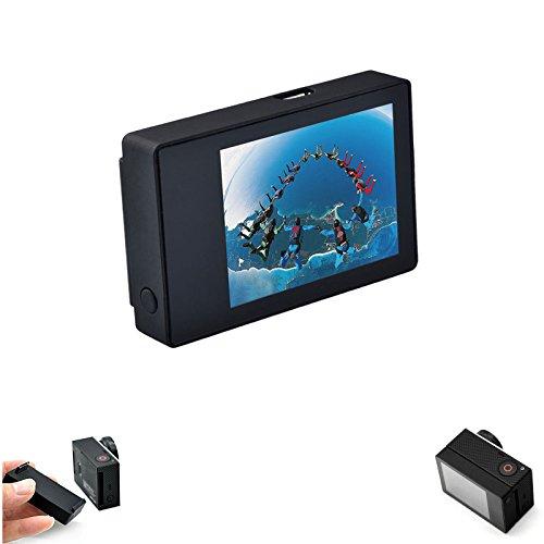 Descripción: 1.Esta pantalla LCD es compatible con la cámara de acción Gopro 32. Alcance del ángulo visual:(W x H): 31,68 x 39,6mm, Peso: 100 g, Compacto y ligero, es fácil para el manejo 3.La pantalla con la claridad de imagen, puede ver claramente ...