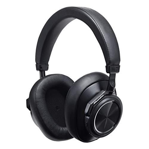 Bluedio T6S Over-Ear Auricular Bluetooth con micrófono, Soporte en la Nube con Reducción de Ruido Activa, Auricular Inalámbrico para Teléfono Celular, 32 Horas de Tiempo de Reproducción (Negro)