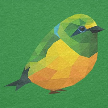 Texlab–Poligono Uccello–sacchetto di stoffa Verde