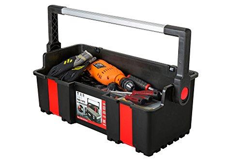 Toolbox Werkzeugkoffer mit Organizer Werkzeugkiste 610x289x255 mm - 4