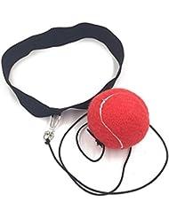 gaddrt boxeo formación pelota con Cabeza Banda gimnasio de boxeo punching ball pelota de reacción de reflejo de bola de lucha boxeo ejercicio, rojo