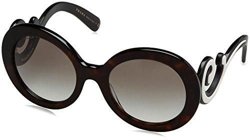 Prada Damen 0PR08TS 2AU0A7 55 Sonnenbrille, Braun (Havana/Grey),