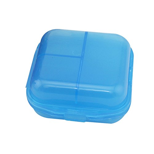 MagiDeal 6 slots Travel Pill Planner Medicine Tablet Case Box Holder Organiser Blue  available at amazon for Rs.325