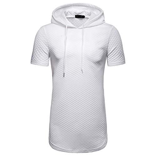 ADESHOP Herren Fashion Kapuzenpullover mit Reißverschluss Tasche groß Casual Top Bluse Shirt
