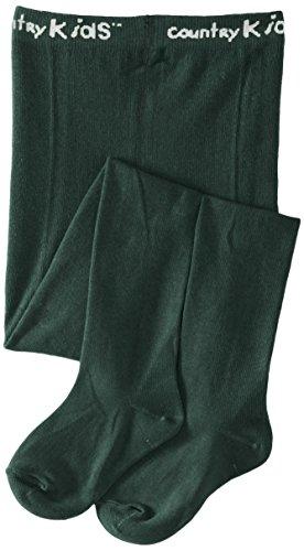 Country Kids Mädchen Strumpfhose Luxury Cotton Tight, Einfarbig, Gr. 128 (Herstellergröße: 6-8 Years), Grün (Pine) (Grün Nylon-strumpfhosen)