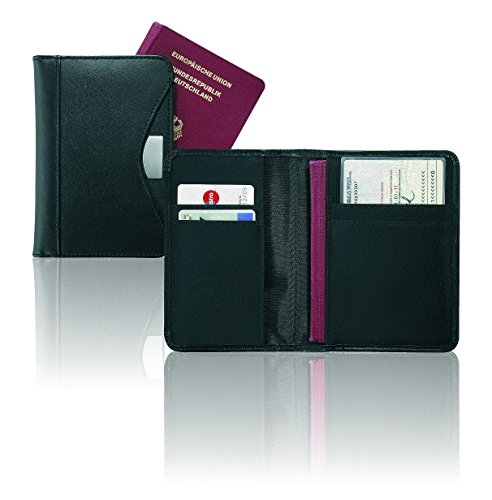 MACEMARO TRADING Organiseur de passeport pour voyage en cuir anti-RFID