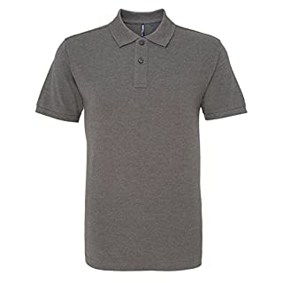 Asquith Fox Men's Polo Shirt, Grey (Charcoal 000), Large (Size:Large)