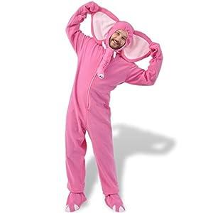 vidaXL Costume de carnaval soirée Déguisement homme femme Éléphant rose XL-XXL