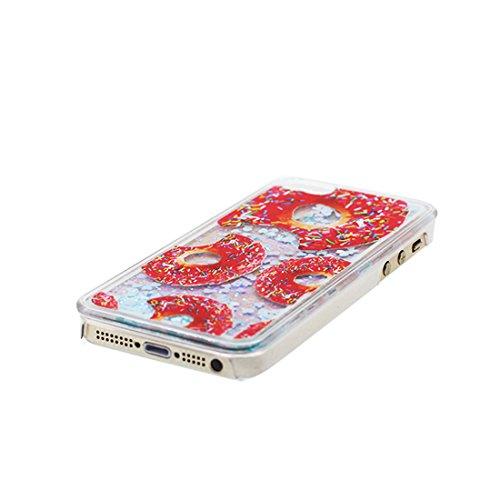 iPhone 5S Custodia, iPhone 5 SE Copertura, rosa Bling liquido fluido trasparente in silicone durevole Case Cartoon 3D Cover & tappi antipolvere - Cartoon Tacchi alti ( Per iPhone 5G 5 ) # 2