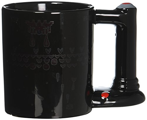 thumbs Up! - Retro Arcade Mug - Tasse Céramique du changement de couleur - poignée en forme d'une manette - noir - 600ml - 1001675