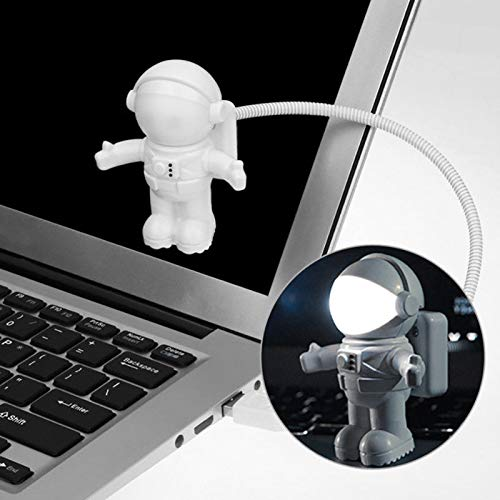 Hangrui Astronaut Spaceman USB Gadgets Lampe,Einstellbare kreative Energiesparende Flexible LED Licht Für Laptop Tablet PC Pad Lesung