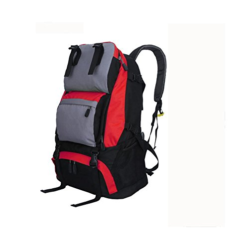 Rucksack 40L Outdoor Travel Backet Reise Bergsteigen Tasche red