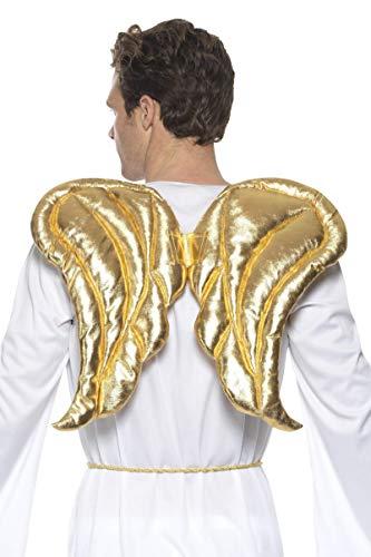 Engel Flügel Kostüm Gold - SMIFFY 'S 48927Deluxe Engel Flügel, Gold, One Size