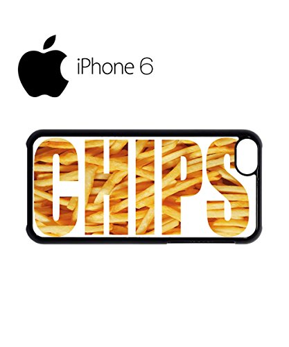 Chips Fries Fast Food Happiness Swag Mobile Phone Case Back Cover Hülle Weiß Schwarz for iPhone 6 White Schwarz