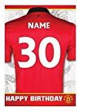 personalisiert Manchester United Fußballmannschaft Geburtstagskarte - hinzufügen Name & Alter
