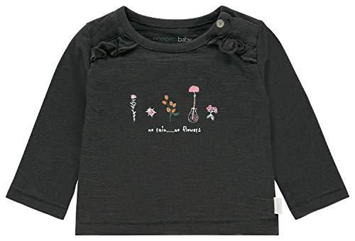 Noppies Baby-Mädchen T-Shirt G Tee Regular ls Celina, Grau (Phantom P008), (Herstellergröße: 62)