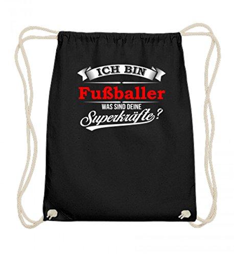 Hochwertige Baumwoll Gymsac - Fußballer Kicker Fußball Superkräfte Mannschaft Geschenk