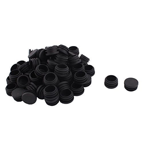 Pieds de la chaise table dealMux plastique Tube rond de la couverture du Douille d'insertion de 30 mm 70pcs Dia Noir