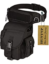 Huntvp® Marsupio Cosciale Tattico Borsa Gamba Moto Sportivo Impermeabile per Campeggio Escursionismo Ciclismo Viaggio Trekking Sport Porta Smartphone Chiave