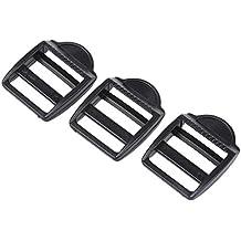 SODIAL (R) 3 x fibbia laterale plastica nera Borsa per 1