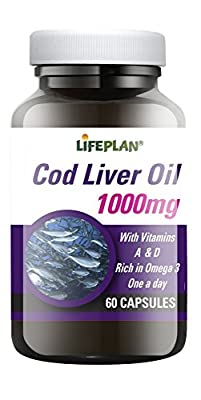 Lifeplan Cod Liver Oil 1000mg 60 caps by Lifeplan