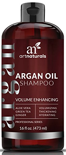 ArtNaturals Argan-Oil Volumizing Shampoo - (16 Fl Oz / 473ml) - Sulfate Free - Volume Enhancing Restores and Strengthens Hair at the Root - Men and Women.
