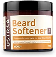 USTRAA Beard Softener Balm Woody - 100g - Softens and nourishes your beard without Sulphates or Parabens, Long