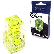 EX-Pro 2D nivel de burbuja para cámara de fotos de zapata caliente - doble Axis 2 posición - para Canon, Fuji, Nikon, Olympus, Lecia, Panasonic, Pentax, Samsung DSLR/cámaras réflex