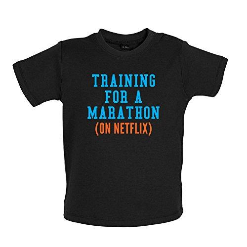 training-for-a-marathon-on-netflix-t-shirt-bebe-noir-18-a-24-mois
