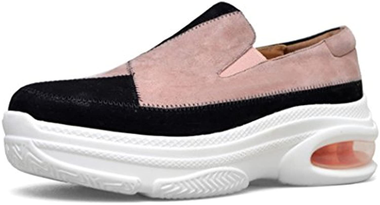 GAOLIXIA Frauen Loafers Plattform Freizeitschuhe Farbabstimmung Flache Slip on Freizeitschuhe Bequeme Luftpolsterö