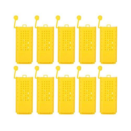 GLOGLOW 100Bienenzucht Aufzucht Cup Kit Kunststoff Bee Queen Käfige Roller Transport Catcher Insectary Box Imker Equipment Werkzeug