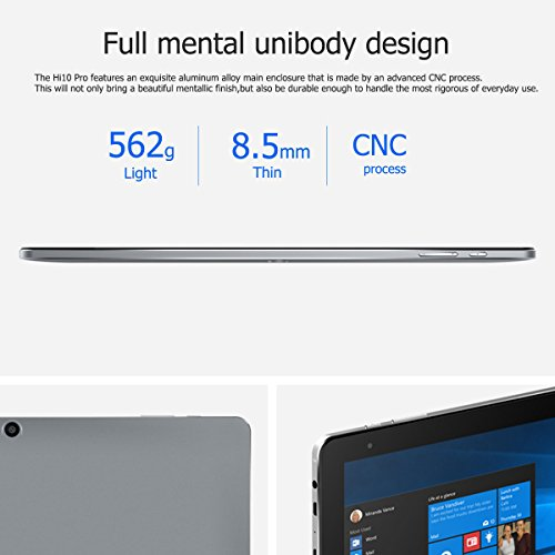 Affordable CHUWI Hi10 Pro 10.1″ 2 in 1 Ultrabook Dual OS Windows10 + Android5.1 Tablet PC Intel Cherry Trail X5-Z8350 64bit Quad Core 4GB RAM 64GB ROM with Dual Cameras WiFi Bluetooth HDMI OTG Type-C External 3G Dongle Tablet Online