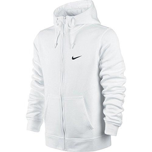 Nike Herren Kapuzenjacke Sweat Club Weiß/Schwarz