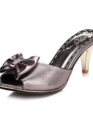 LFNLYX Scarpe Donna-Sandali-Formale / Casual / Serata e festa-Tacchi / Spuntate-A stiletto-Finta pelle-Nero / Rosa / Argento / Dorato golden