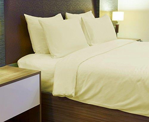 The Bettersleep Company Superior Boutique hotel quality 600fili 100% cotone egiziano lenzuolo 34cm profonda gonna crema (doppio)