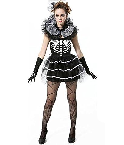 HZHF Costume de squelette sexy pour femme Costume de maquillage