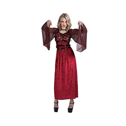 Vampir Party Kostüm - EraSpooky Damen Vampir Kostüm Faschingskostüme Cosplay Halloween Party Karneval Fastnacht Kleid für Erwachsene