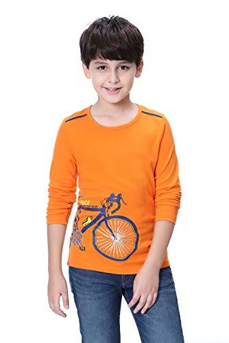 Langarmshirt Jungen T Shirt Langarm Top Kinder Basic Shirt Rein Baumwoll Kinderkleidung für 4-12 Jahre - 10 Langarm T-shirt