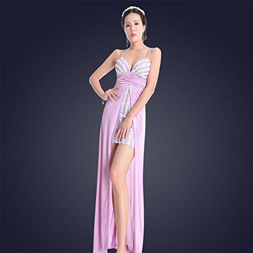 Kostüm Licht Lila - XiaoGao ktv - bar v Langen Hals Kleid Abendkleid kostüme,lila ist licht