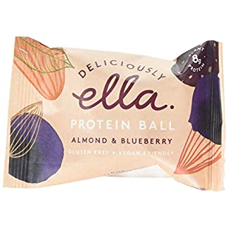 Deliciously Ella - Almond & Blueberry Protein Ball, Gluten-Free, Vegan Friendly, Healthy Snack, 50g (12 Balls) 2