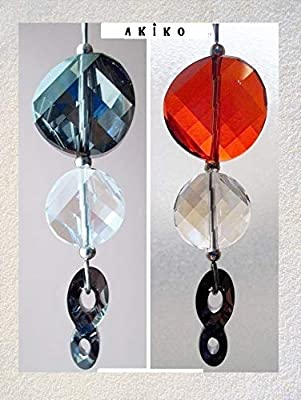 Pendentif en cristal Swarovski, inspiration Japon, symbole Infini ou chiffre 8