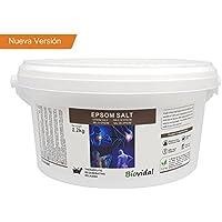 Sal de Epsom Biovital 2.2 Kg, Fuente concentrada de Magnesio, Sales 100% Naturales. Baño y Cuidado Personal. (.