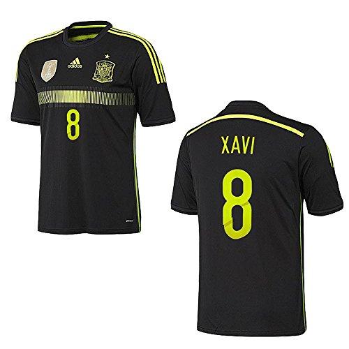 adidas Spanien Trikot Away Herren 2014/2015 - Xavi 8, Größe:L