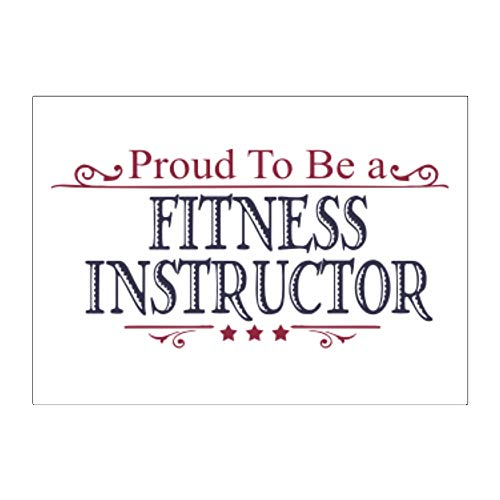 Teeburon Proud to BE a Fitness Instructor Aufkleber x4 6