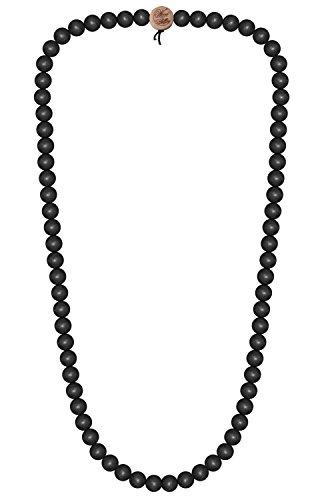 Wood Fellas Unisex Deluxe Holz-Perlenkette Black 6mm