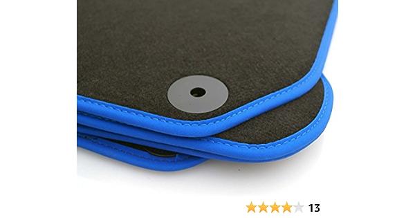 Kh Teile Fussmatten Passend Für Golf 7 Fussmatten Velours Automatten Premium Tuning Zubehör 4 Teilig Schwarz Nubuk Blau Auto