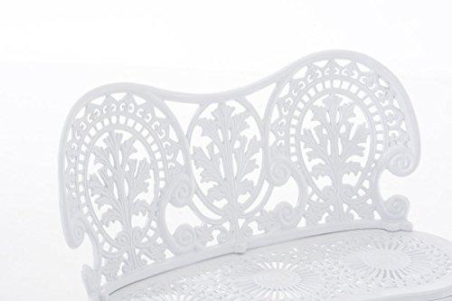 CLP Eisen Gartenbank MAHADEV, 2-Sitzer, Landhaus-Stil, Design nostalgisch antik Weiß - 4