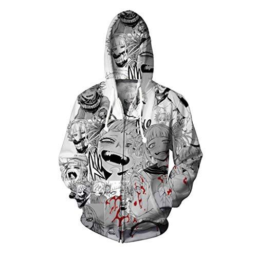 Coole Con Kostüm Comic - YEGEYA Cosplay kostüm hoodie comic 3d druck reißverschluss strickjacke mit kapuze sport pullover cosplay um (Color : Sweater version, Size : 5XL)